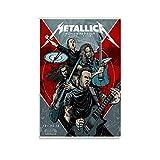 YRETW Metallica Band Figure Poster, Leinwand-Kunstdruck,