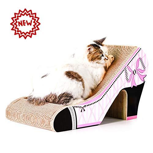 PETVE Katzen Kratz Spielzeug, Haben Einen Bestimmten Neigungswinkel, High-Heel-Typ Katzenkratzbrett Katzenspielzeug Wellpappe-Schleifgerät Katzenbedarf