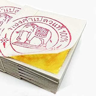 純金箔 24K タイ産 Gold リーフ 金箔 シート 100枚セット 4cm x 4cm タイ 仏事 慶事 工芸用 ホビー [並行輸入品]