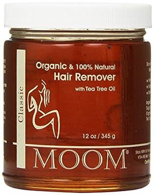 Moom Certified Organic Hair Remover with tea Tree Refill Jar 12 oz by Moom