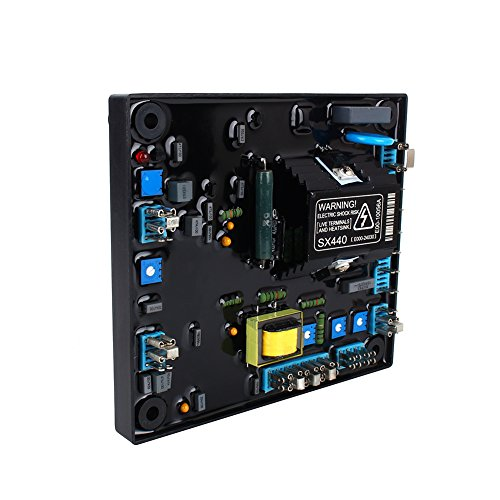 Regulador de voltaje automático negro nuevo Dgtrhted AVR SX440 para generador Stamford