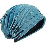 Hombre Jersey Slouch Gorro Verano Skullcap (A-Azul, Thin Cool)