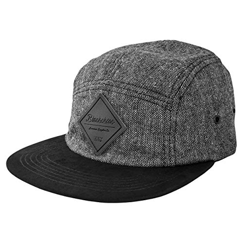 Blackskies Bliss Vol. II 5-Panel Cap | Damen Herren Baseball Camp Mütze Kappe Surfer Skater Snapback Strapback Schwarz Kunst-Wildleder