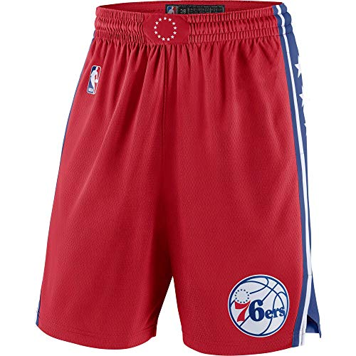 Philadelphia 76ers Youth 8-20 Official Swingman Performance Shorts (Youth - Large, Philadelphia 76ers Red Statement Edition Shorts)