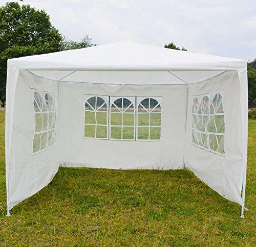 Partypavillon, strapazierfähig, 3x3 m, mit abnehmbaren Seitenwänden, vollständig wasserfest, Hochzeit, Festzelt, Baldachin für den Außenbereich, Garten, Camping, Strand, Hochzeit, einfach zu montieren