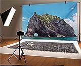 Fondo de vinilo para fotografía de playa, 15 x 10 pies, famoso elefante forma roca con el gran agujero en la bahía de las islas, fondo pacífico para bebé, cumpleaños, boda, estudio, fotografía