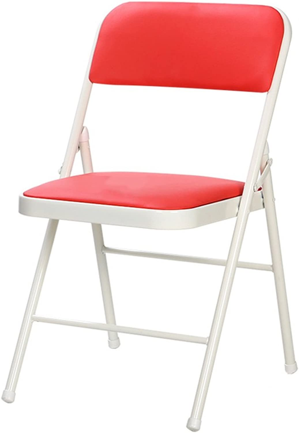 Chair Stool Folding Office Computer Chair Ergonomic for Meeting Room Fishing (color   Red)