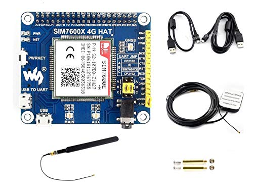 IBest waveshare 4G / 3G / 2G / GSM/GPRS/GNSS HAT for Raspberry Pi, Based on SIM7600E-H, Support LTE CAT4 for Downlink Data Transfer, 4G Connection, Making Call, Sending SMS, Global Positioning
