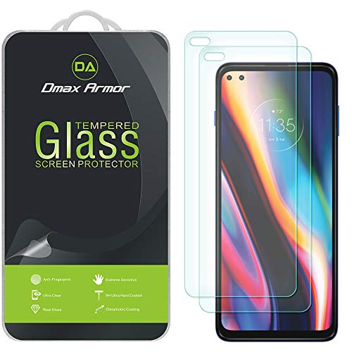 (2 Pack) Dmax Armor for Motorola One 5G and (One 5G UW) Tempered Glass Screen Protector