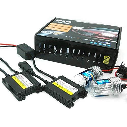 Kit de remplacement HID Xenon Light par Heinmo - 1 paire de phares HID de 55 W - Xenon H3 H7 H9 H11 H8 H1 9005 9006 880 881 HB3 HB4