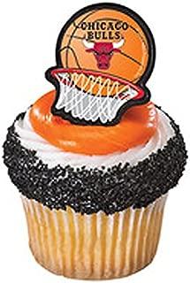 Chicago Bulls Cupcake Rings 12 count