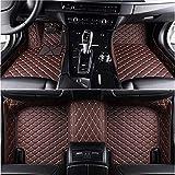 Hecho A La Medida De Coches Tapetes para Jaguar XF Todas Modelos XE XJ F-Pace F-Type Auto Accesorios De AutomocióN, Café