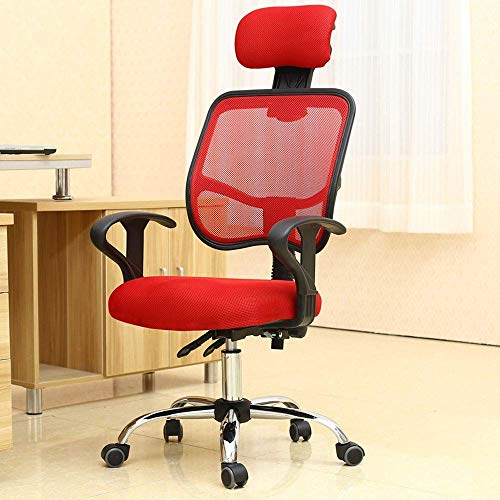 Wohnaccessoires Home Office Liegestuhl Rückenlehne Computerlift Drehstuhl in 6 Farben erhältlich 360 Grad Drehstuhl (Farbe: Pink) 3