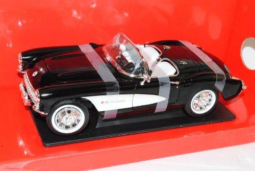 Chevrolet Chevy Corvette C1 Cabrio Schwarz 1953-1962 1/18 Yatming Modell Auto