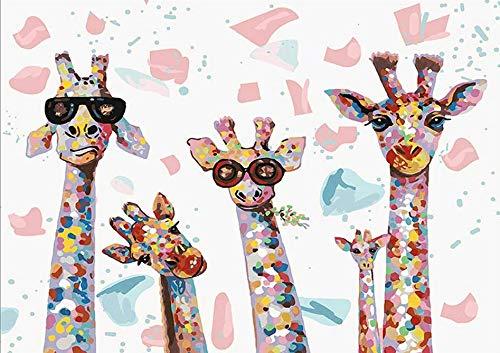 KAMIERFA Pintar por Numeros Adultos Niños para DIY Conjunto Completo de Pinturas Surtidas Pintura al óleo Kit y Accesorios 40x50 cm