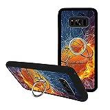 Universal Custom Basketball Samsung Galaxy S8 Phone Case Ring Holder Kickstand Rotational Heavy Duty Armor Protective Soft TPU Bumper Shell Cover for Samsung Galaxy S8