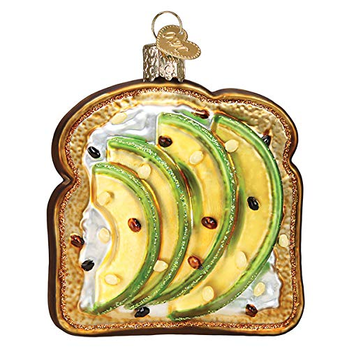 Old World Christmas Avocado Toast Blown Glass 2020 Unique Christmas Ornaments for Christmas Tree Decorations