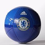 adidas Performance Chelsea FC Soccer Ball, CFC Reflex Blue/Chelsea Blue/White, Size 5