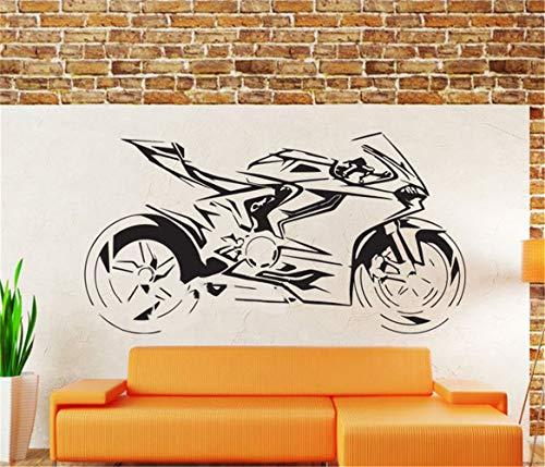 etiqueta de la pared pegatina de pared frases Ducati Panigale accesorios de decoración del hogar de la motocicleta Mural Moto para niños dormitorio sala de estar
