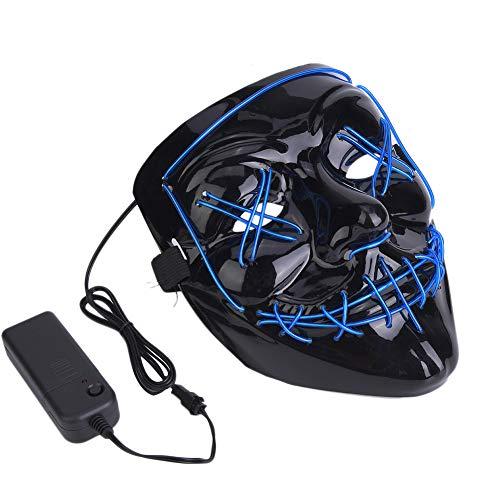 Scary Mask, Light Up Halloween Mask Payaso Scary Wire Lighting Accesorio de máscara para la Fiesta del Festival de Halloween (Verde)
