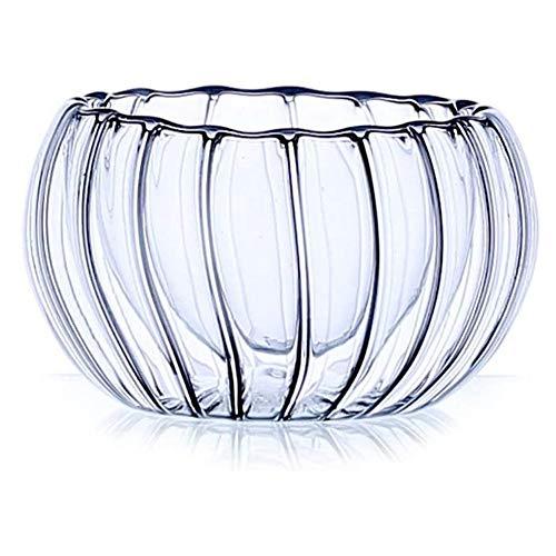 Huolirong Vasos Whisky Cristal 6 unids/Lote Vidrio de Doble Pared Mini Calabaza Tiro de Vidrio Diseño Anti-Caliente Taza de té Copas de Vino de Licor Barato al por Mayor