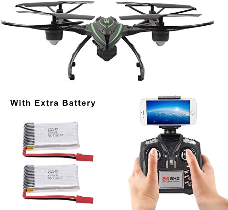 Ahorre hasta un 70% de descuento. MattheyJuguetes JXD 510W 2.4G WIFI transmisión transmisión transmisión en tiempo real con aviones no tripulados de la cámara HD Modo de Alta Retención RC Quadcopter con 2 Pilas extra  tienda en linea