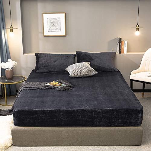 HAIBA Colcha de terciopelo de cristal para cama Queen King, reversible, de doble cara, de algodón puro, acolchado, súper suave, cómoda, para cuatro estaciones, multifunción, gris, 180 x 200 cm