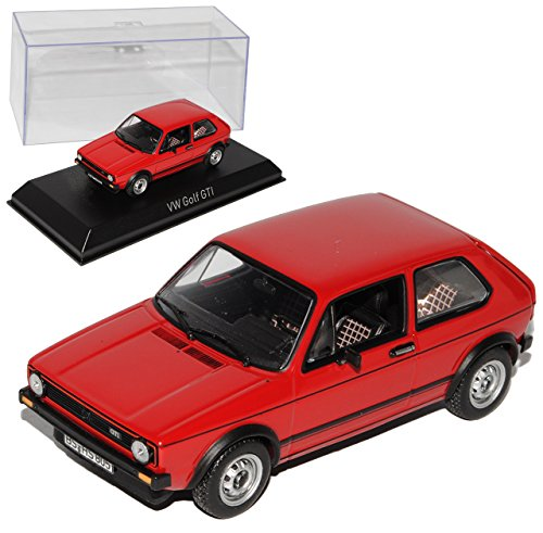 Norev Volkwagen Golf I GTI Rot 3 Türer 1974-1983 1/43 Modell Auto mit individiuellem Wunschkennzeichen