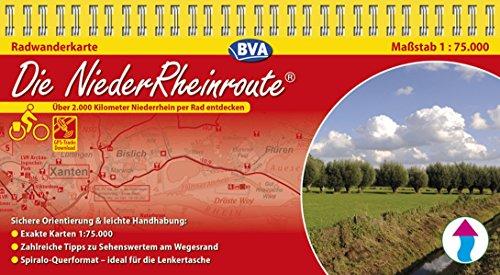 Kompakt-Spiralo BVA Die NiederRheinroute 1:75.000: Über 2.000 Kilometer Niederrhein per Rad entdecken.