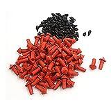 sourcing map Hongo Forma Remaches 7mm Gránulos Reparación de Neumático Negro Rojo