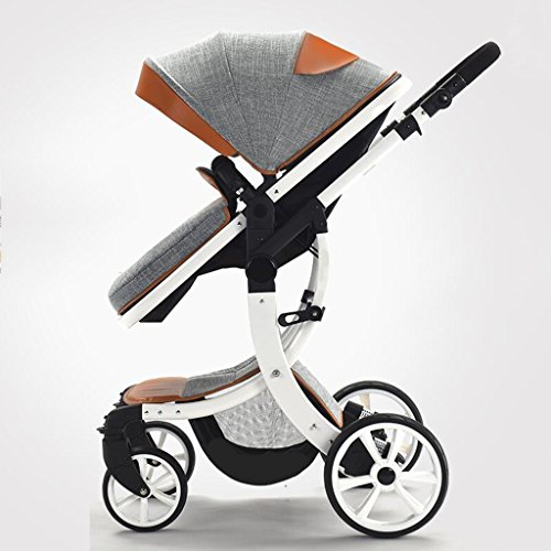 Buy Bargain PLDDY Standard Baby Carriage High Landscape Can Sit Horizontal Portable Folding Two-Way ...