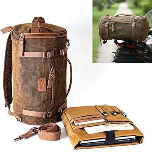 Yiyu Motorrad Hecktasche Gepäckrolle Lenkertasche Rucksack Wasserdicht, Leicht, Widerstandsfähig, Reißfest, Absolut Wasserdicht, Kräftige Feste Tragegriffe Universell x (Color : Brown)