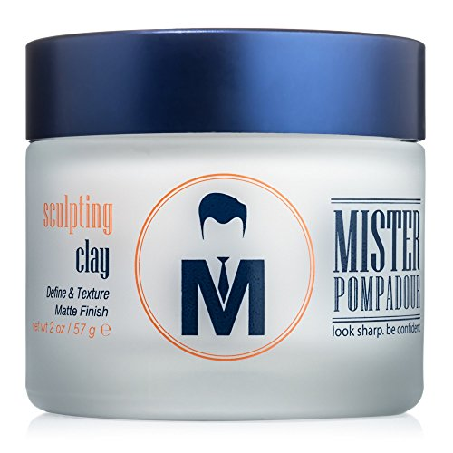 Mister Pompadour Sculpting Clay | Clay Pomade for Men and Women | Matte Finish | Volume & Hold...