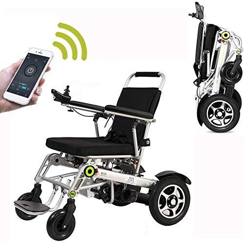 ZGYICQGOO Lightweight Folding Fernbedienung Elektrischer Rollstuhl motorisiert, Leichter Folding Smart Electric Rollstuhl