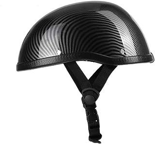 Romacci Meio capacete de motocicleta estilo retro ABS + tampa de plástico de algodão para motociclista Ridder Estrias de c...