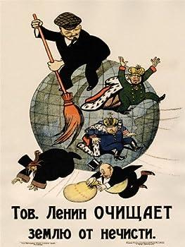 Doppelganger33 LTD Propaganda Communism Lenin Anti Capitalist Revolution Soviet Large Art Print Poster Wall Decor 18x24 inch