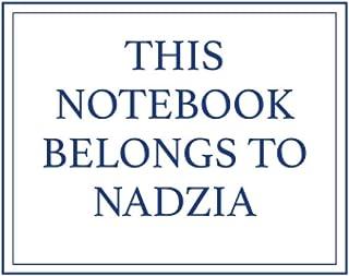 This Notebook Belongs to Nadzia