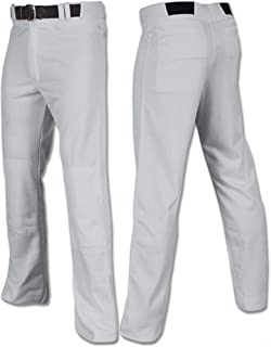 Open Bottom Relaxed Fit Profesional Style Baseball Pants