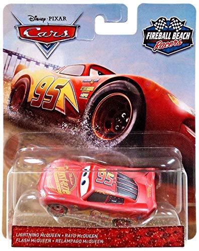 Fireball Beach Disney Pixar Cars #95 Lightning McQueen 1:55 Scale Diecast