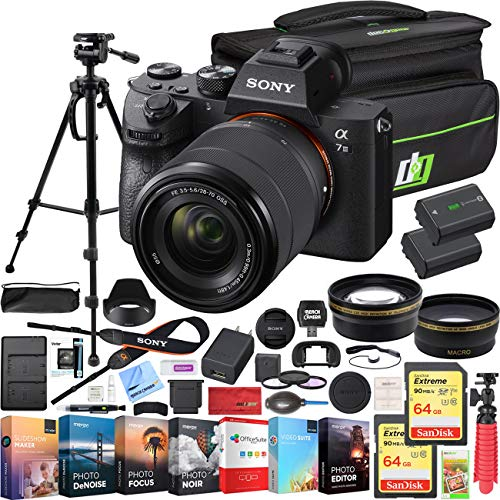 Sony a7III Full Frame Mirrorless Camera with FE 28-70 mm F3.5-5.6 OSS Lens ILCE-7M3K/B Bundle with...