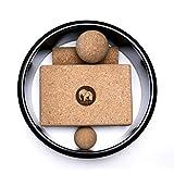 Contenance.® Premium Kork-Yoga Set – Robust & Nachhaltig – Rolle