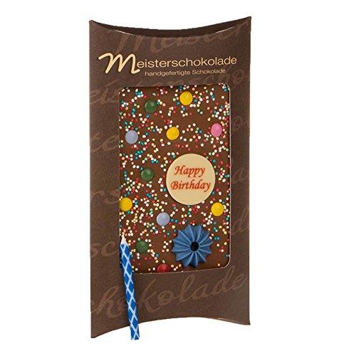 Happy Birthday - belgische Vollmilch Schokolade - 100g Tafel