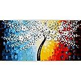 Bwhman Pintura por Números DIY Pintura Al Óleo Digital Pintura Acrílica Set Niños Adultos Decoración para El Hogar con Marco Sin Marco Árbol De La Fortuna Abstracta