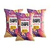 Barnana Organic Plantain Chips - Himalayan Pink Salt- 5 Ounce, 3 Pack - Salty, Crunchy, Th...