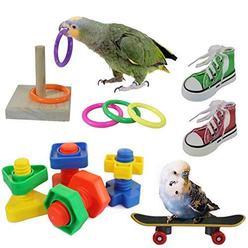 RYPET Bird Swing - Wooden Conure Toys Bird...