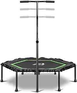 LPYMX Trampoline Trampoline Bounce Mini Adult Fitness Trampoline with Adjustable T-Bar Stability Handle Trampoline net
