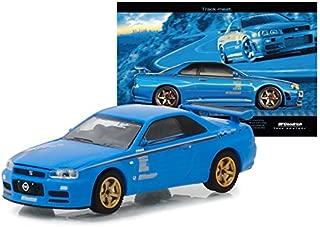 Greenlight 1: 64 Hobby Exclusive - BFGoodrich Vintage AD Cars - 2001 Nissan Skyline GT-R (R34)(Blue) Toy