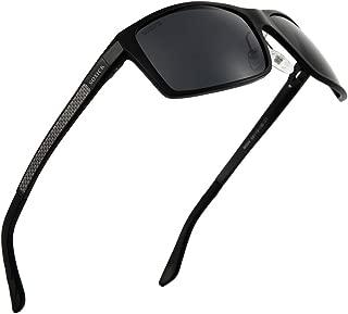 Polarized Sunglasses For Men Driving - Lightweight Adjustable Rectangular Sun Glasses