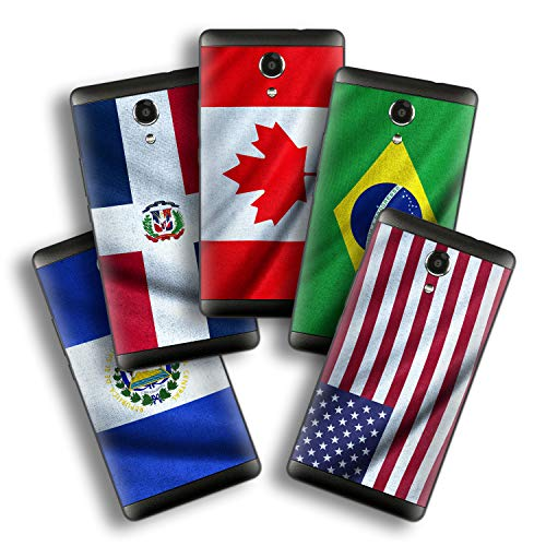 atFolix Designfolie kompatibel mit Wiko Robby, wähle Dein Lieblings-Design aus, Skin Aufkleber (Flaggen aus Amerika)