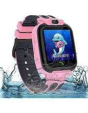 Smartwatch kinderhorloge waterdicht kindersmartwatch voor jongens en meisjes, smartwatch met telefoon SOS LBS tracker, spraakchat, verjaardagscadeau voor kinderen 3-12 ans, roze